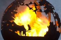 """Beautiful 'Up North' 37"""" Fire Pit Sphere"""
