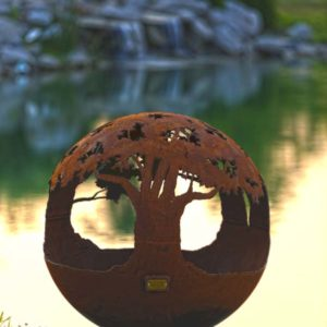"""Tree of Life 37"""" Fire Pit Sphere"""