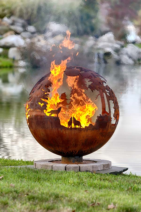 Up North Custom Fire Pit Sphere The Fire Pit Gallery