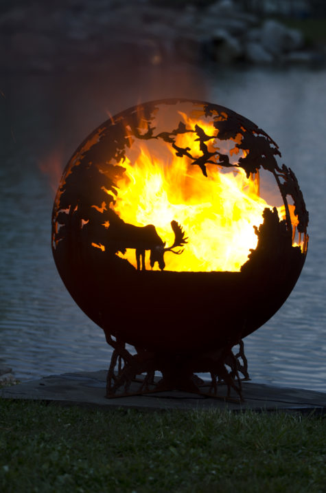 "Up North 37"" Fire Pit Sphere"