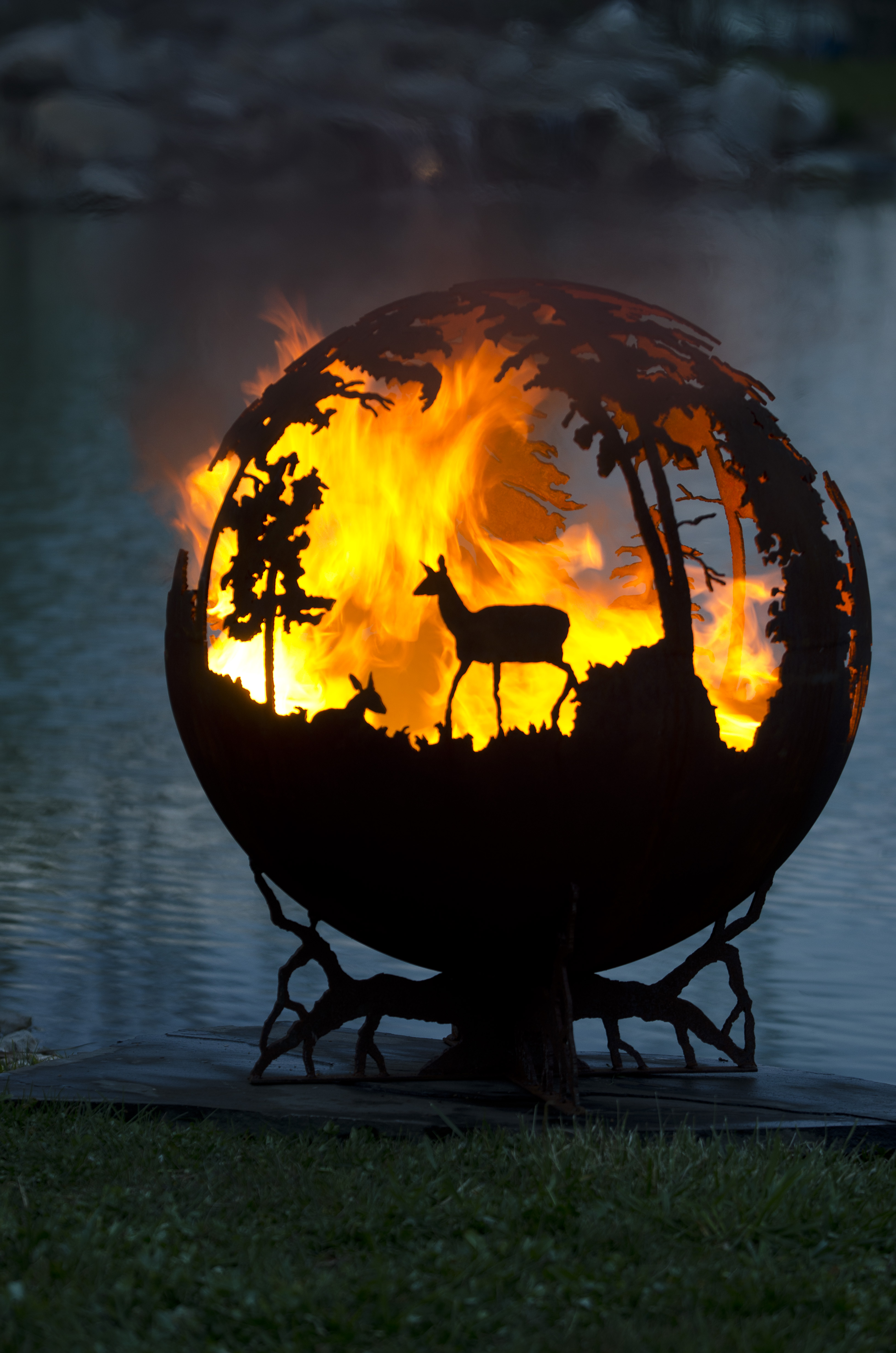 Awesome Up North Fire Pit Sphere Design