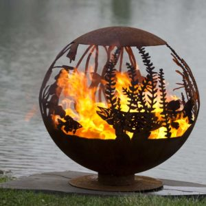 """Red Lake 37"""" Fire Pit Sphere"""