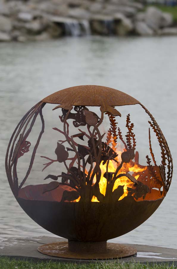Red Lake Fire Pit Sphere The Fire Pit Gallery