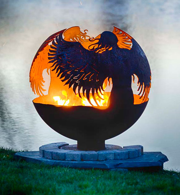 - Hidden - Guardian Angel Fire Pit Sphere The Fire Pit Gallery