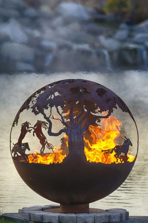 "Wildfire 37"" Fire Pit Sphere"