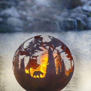 "High Mountain 37"" Fire Pit Sphere"