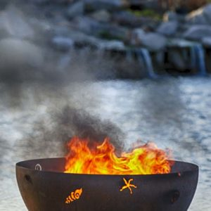 """A Walk on the Beach 37"""" Fire Pit Bowl"""