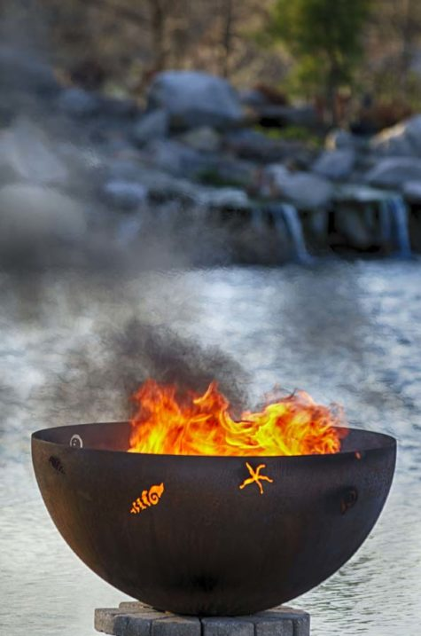 "A Walk on the Beach 37"" Fire Pit Bowl"
