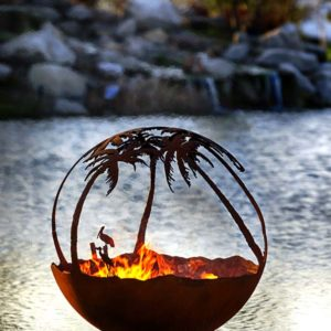 """Another Day in Paradise 37"""" Fire Pit Sphere"""