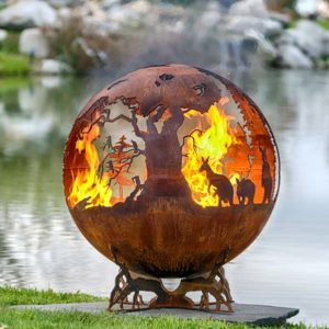 Down Under -  Australia Fire Pit Sphere