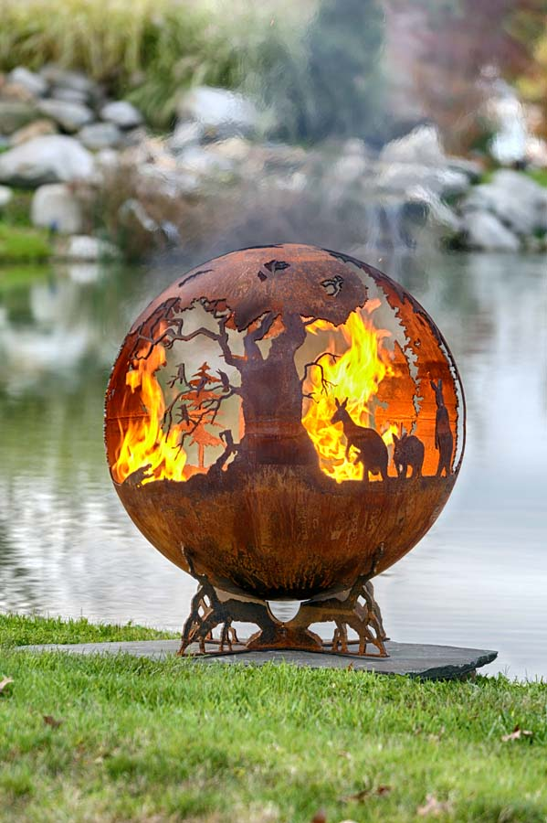 Australia Fire Pit Sphere   Down Under | The Fire Pit Gallery : The Fire Pit  Gallery