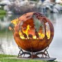 Down Under Australia Fire Pit Sphere