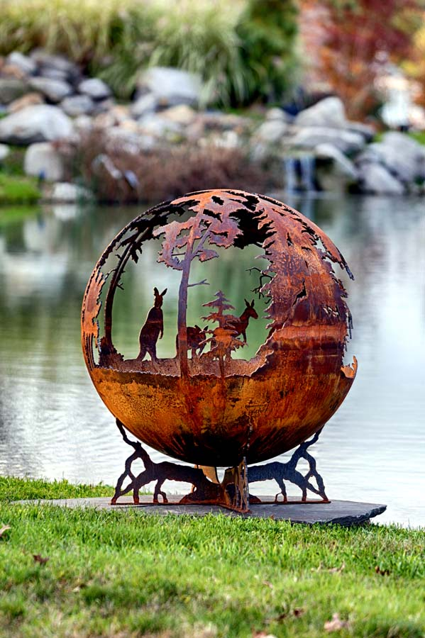 Australia Fire Pit Sphere Down Under The Fire Pit