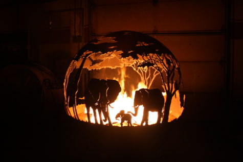 African Savanna Fire Pit Sphere