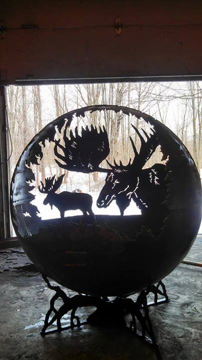 Custom Fire Pit - Moose Design