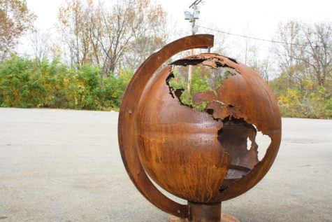 Terra Earth Fire Pit Sphere - Custom Design Globe