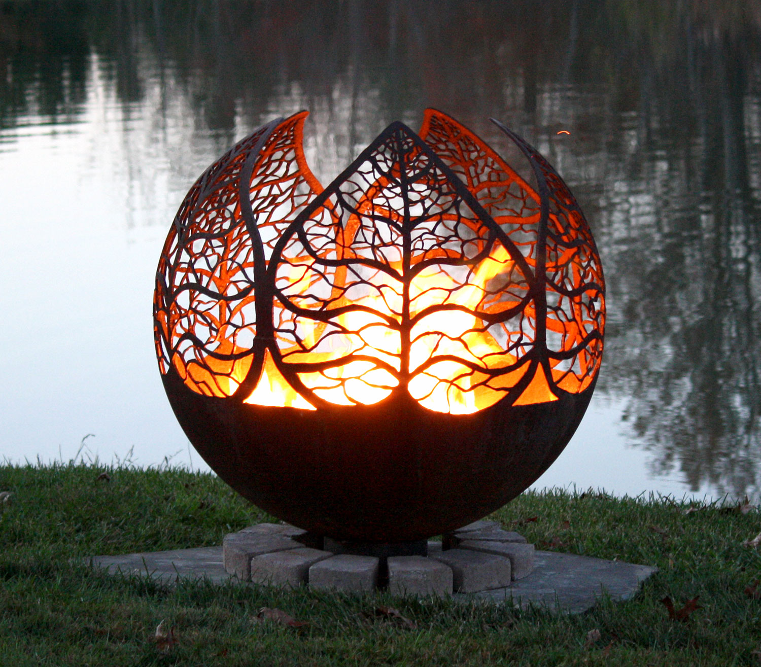 - Autumn Sunset Leaf Fire Pit Sphere The Fire Pit Gallery