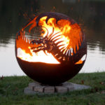 "Pendragon's Hearth 37"" Sphere Fire Pit"