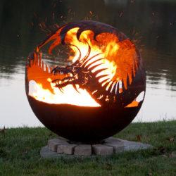 """Pendragon's Hearth 37"""" Sphere Fire Pit"""