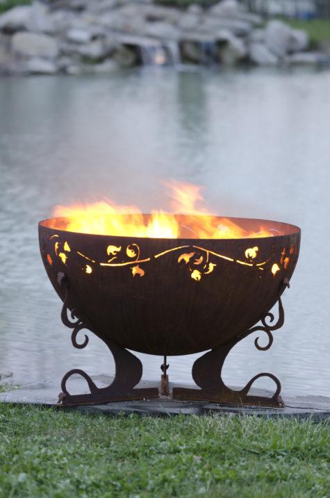 """Ivy Garden Fire Pit 6 37"""" Firebowl"""
