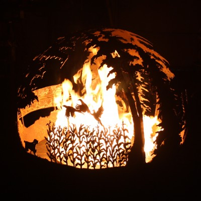 Custom Up North Gas Fire Pit Photo -1