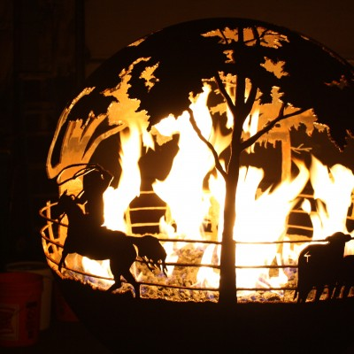 Round Up Gas Fire Pit Photo