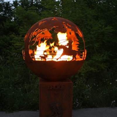 Round Up Custom Gas Fire Pit Photo -2