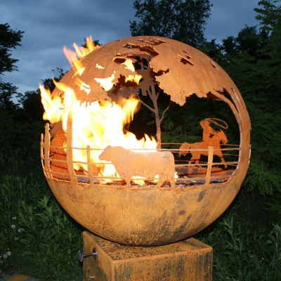 Round Up Gas Fire Pit Photo - 3