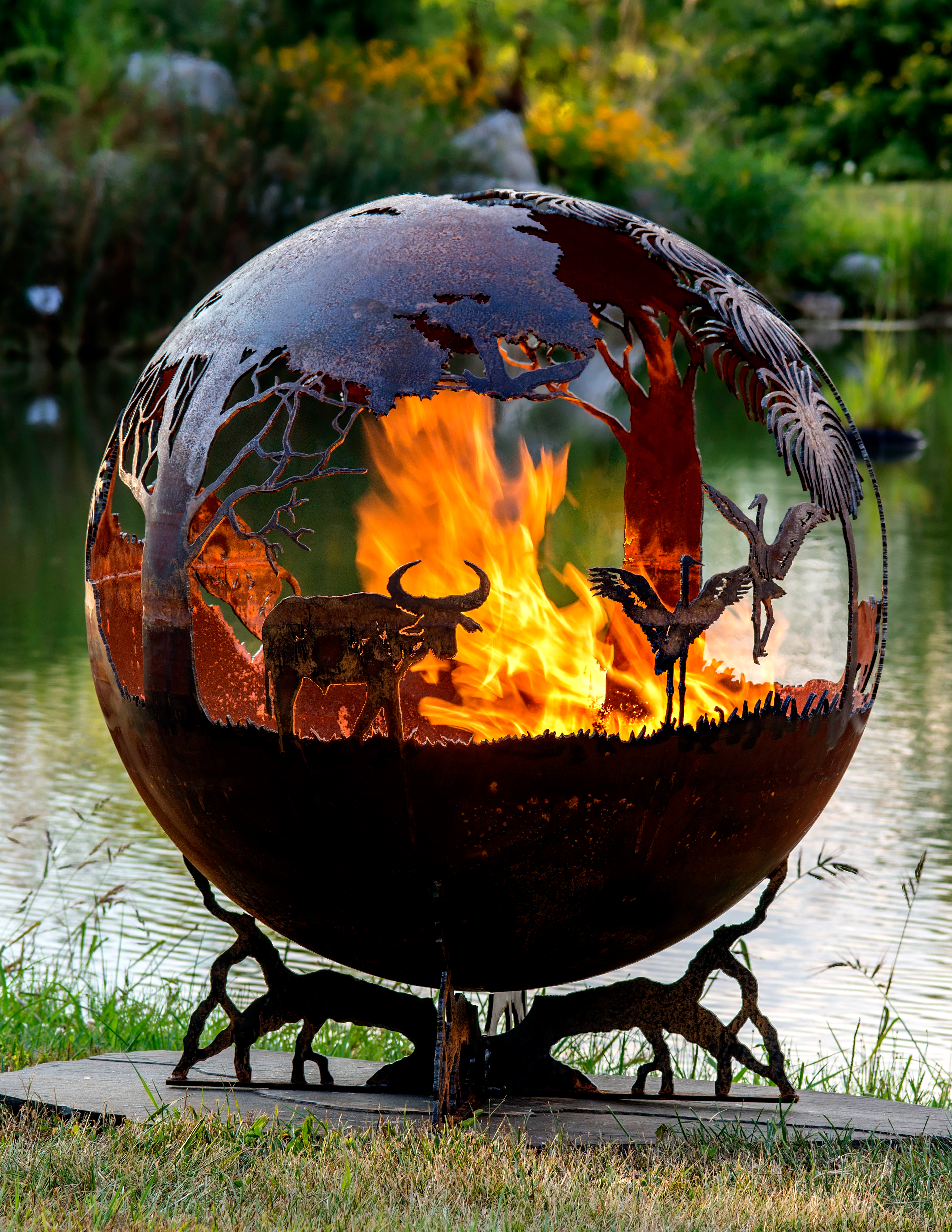 Outback Australia Fire Pit Sphere The Gallery