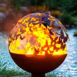 Wings Butterfly Fire Pit Sphere