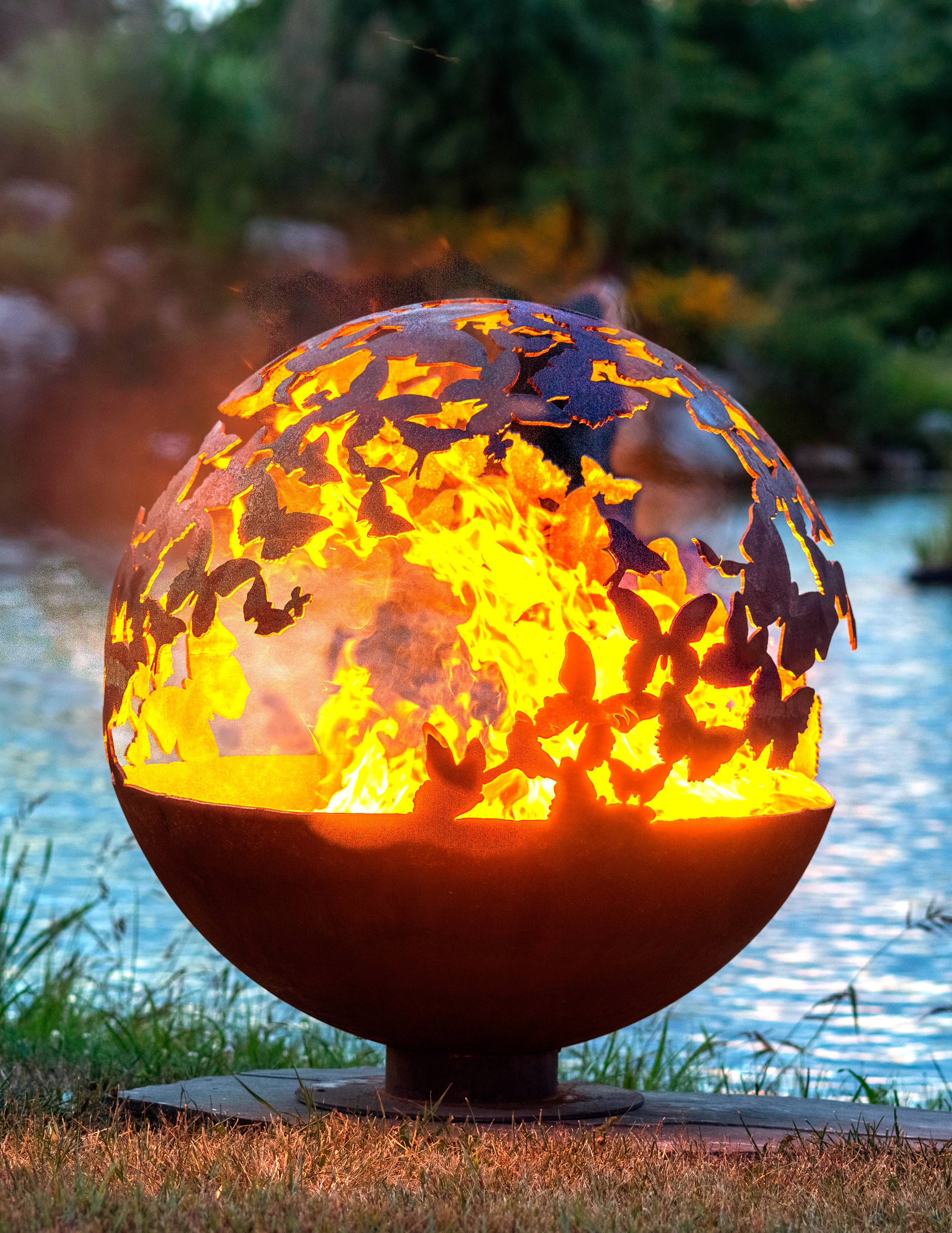 Wings Butterfly Fire Pit Sphere The Fire Pit Gallery