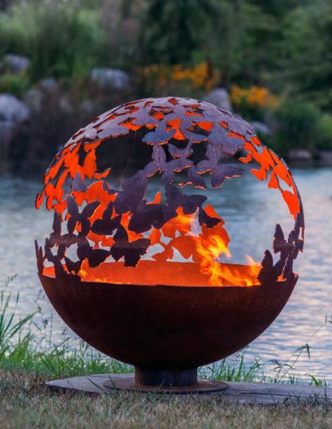 Wings - Butterfly Fire Pit Sphere