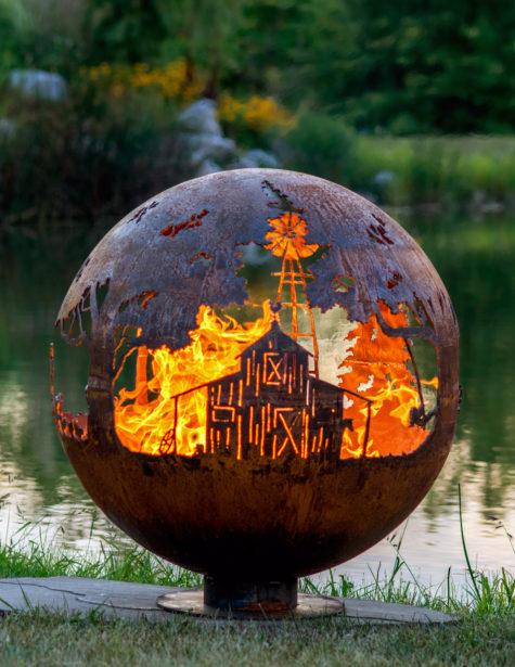 Appel Crisp Farms - Farm Fire Pit Sphere - Barm