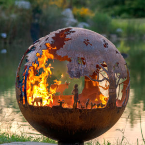 Appel Crisp Farms - Farm Fire Pit Sphere - Animals - Chickens - Ducks-Chickens
