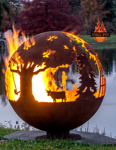 Appel Crisp Farms Fire Pit Sphere 03 - Cow Dexter Swing The Fire Pit Gallery