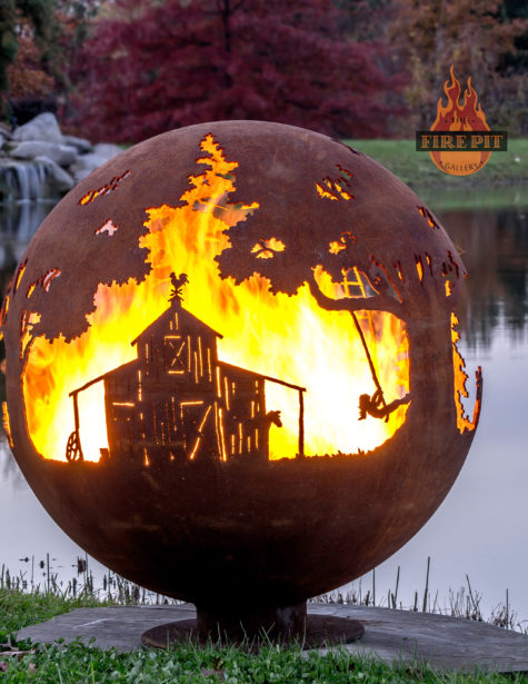 Appel Crisp Farms Fire Pit Sphere 04 - Barn-swing-child-cupola-weather-vane -The Fire Pit Gallery