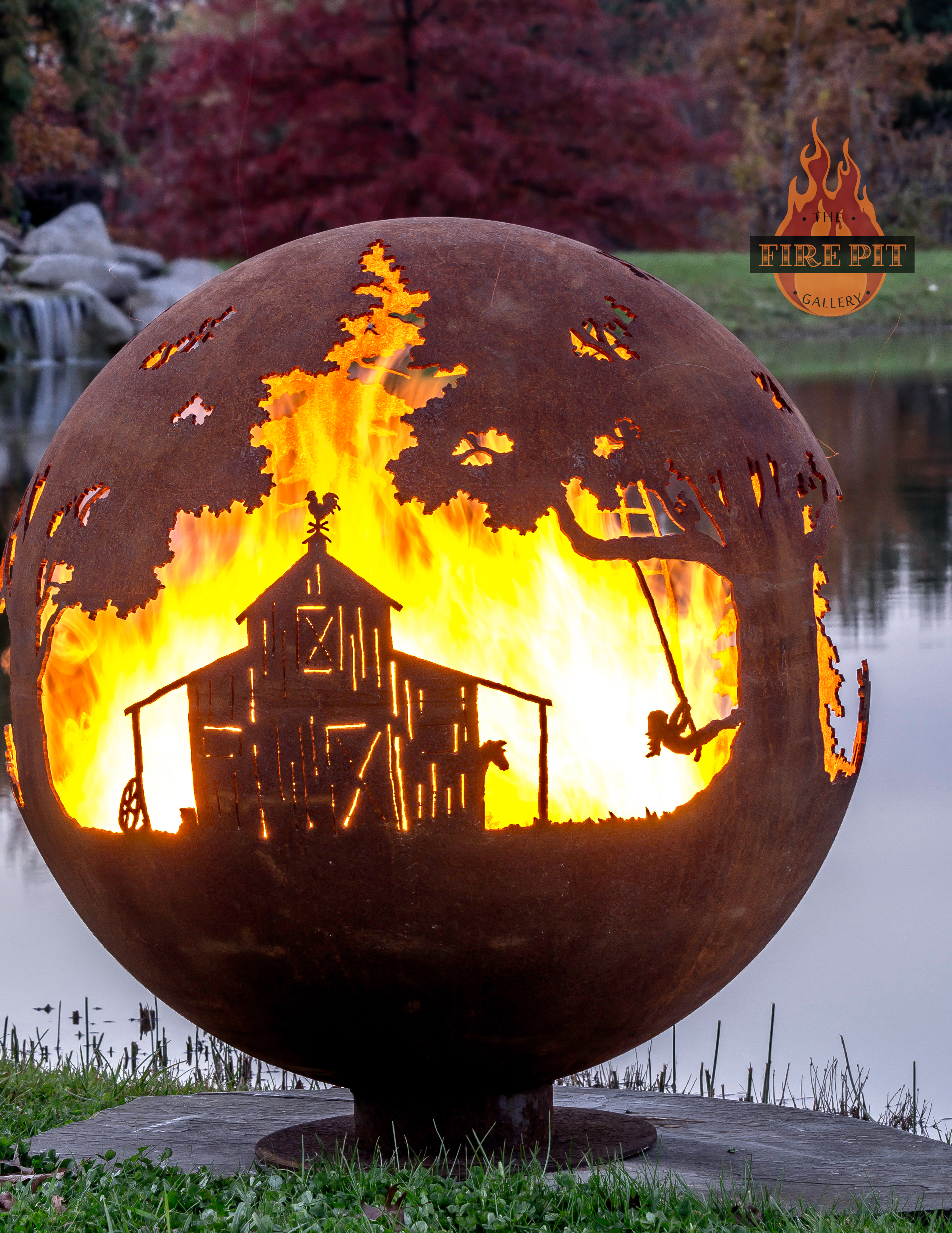 Horse Decor For The Home Farm Fire Pit Sphere Appel Crisp Farms The Fire Pit Gallery