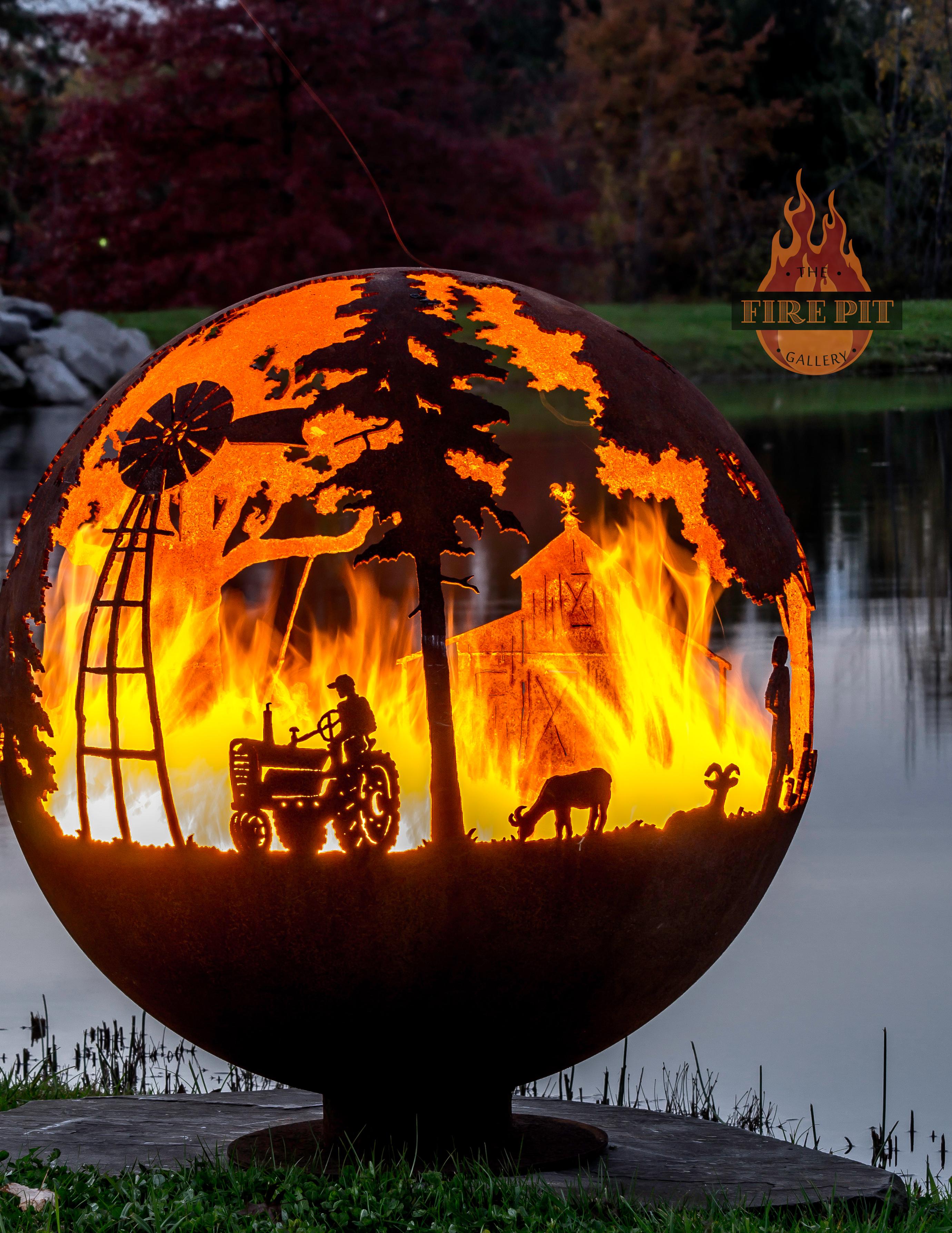 Farm Fire Pit Sphere Appel Crisp Farms The Fire Pit Gallery