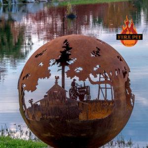 Appel Crisp Farms Fire Pit Sphere 07 - Unlit-tractor-farmer-barn-weather-vane-The Fire Pit Gallery
