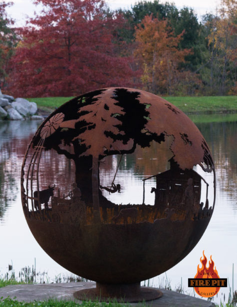 Appel Crisp Farms Fire Pit Sphere 08 - The Fire Pit Gallery