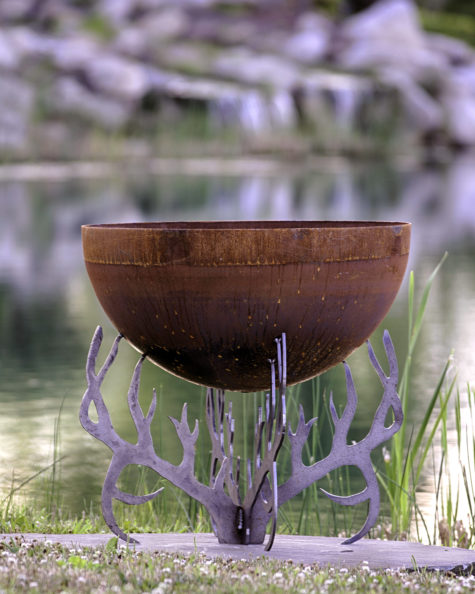 Rack of Fire 30 inch antler fire pit