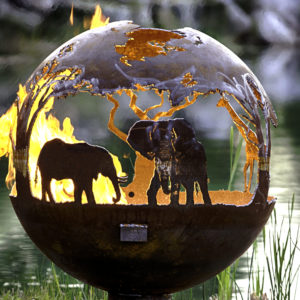 African Safari_Fire_Pit_Sphere_Elephant_1