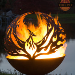 Phoenix Rising Fire Pit Sphere 01 - The Fire Pit Gallery