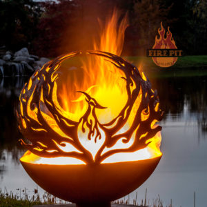 Phoenix Rising Fire Pit Sphere 02 - The Fire Pit Gallery