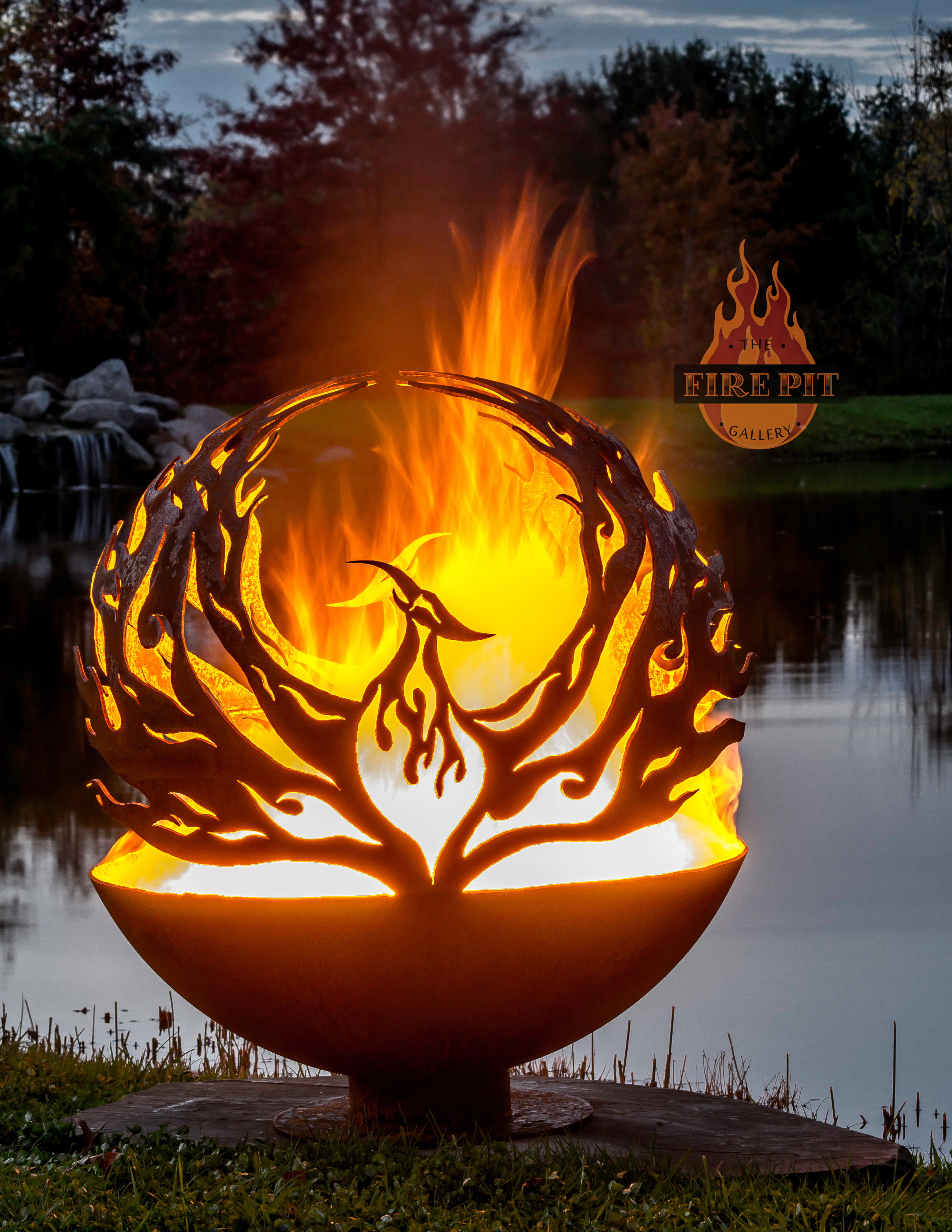 phoenix rising fire pit sphere 02 the fire pit gallery