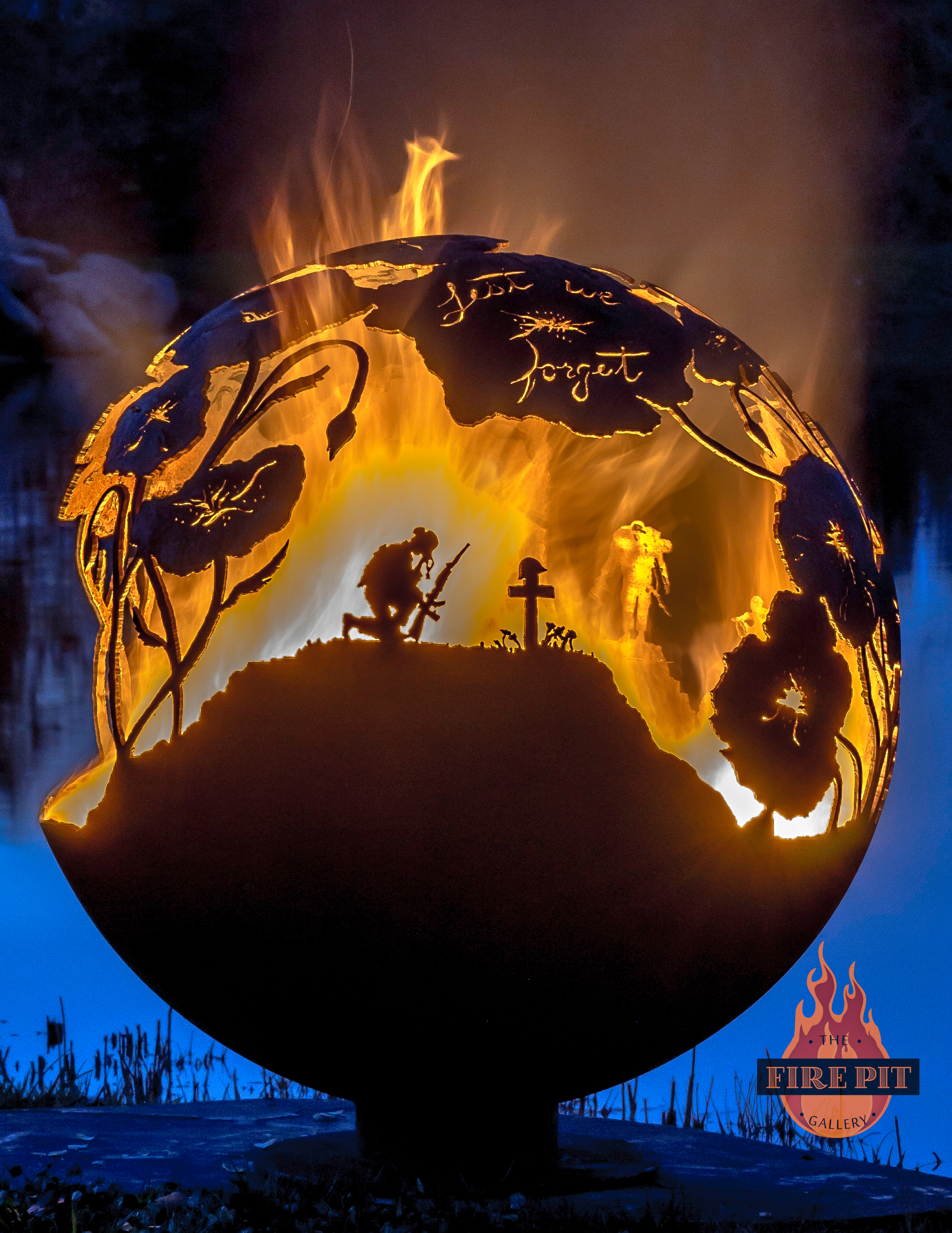 Attractive Lest We Forget Fire Pit Sphere 01   The Fire Pit Gallery