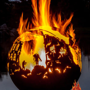 Lest We Forget fire pit sphere 06 - The Fire Pit Gallery