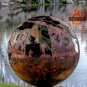 Lest We Forget fire pit sphere 10 - The Fire Pit Gallery