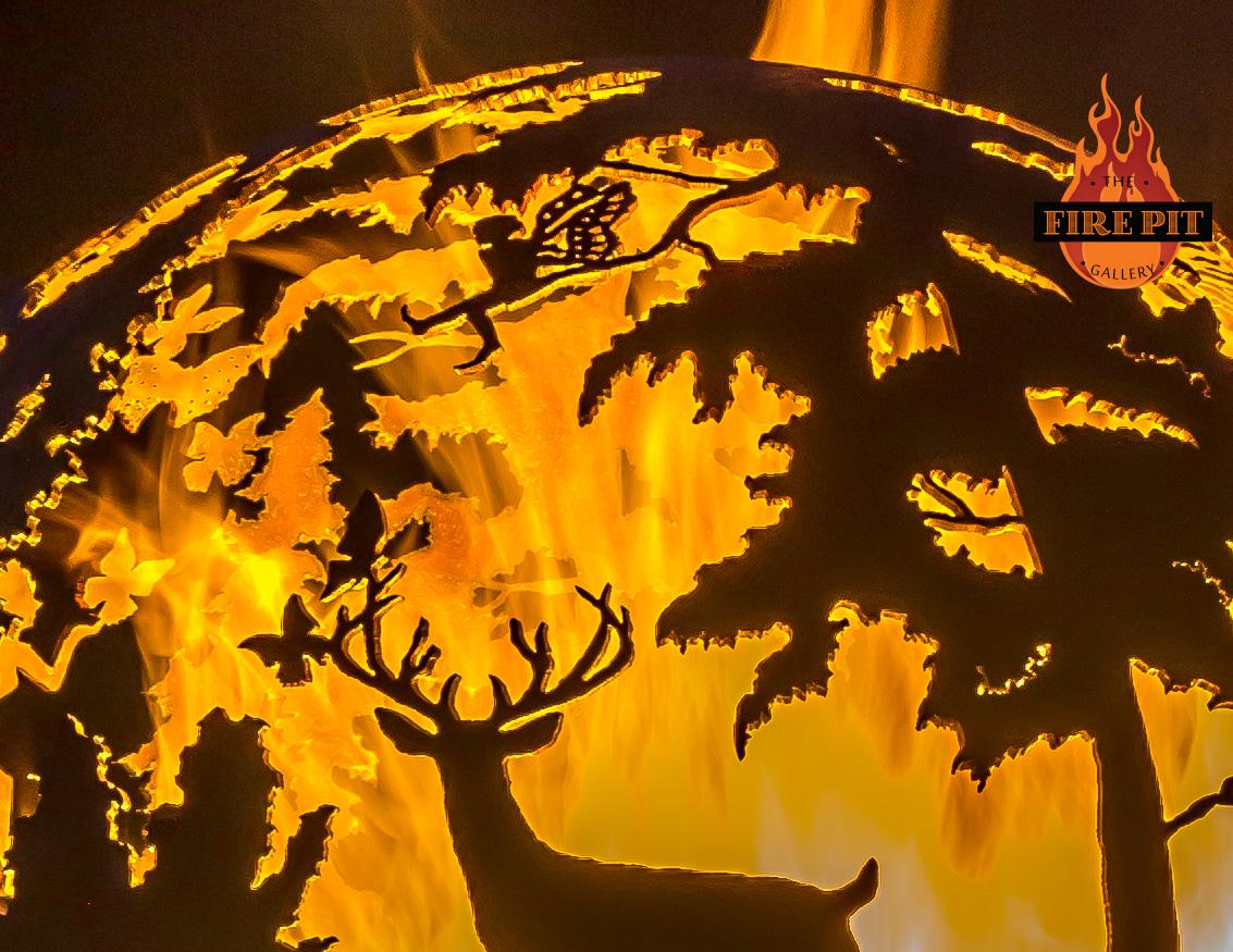 Burning enchanting scene three