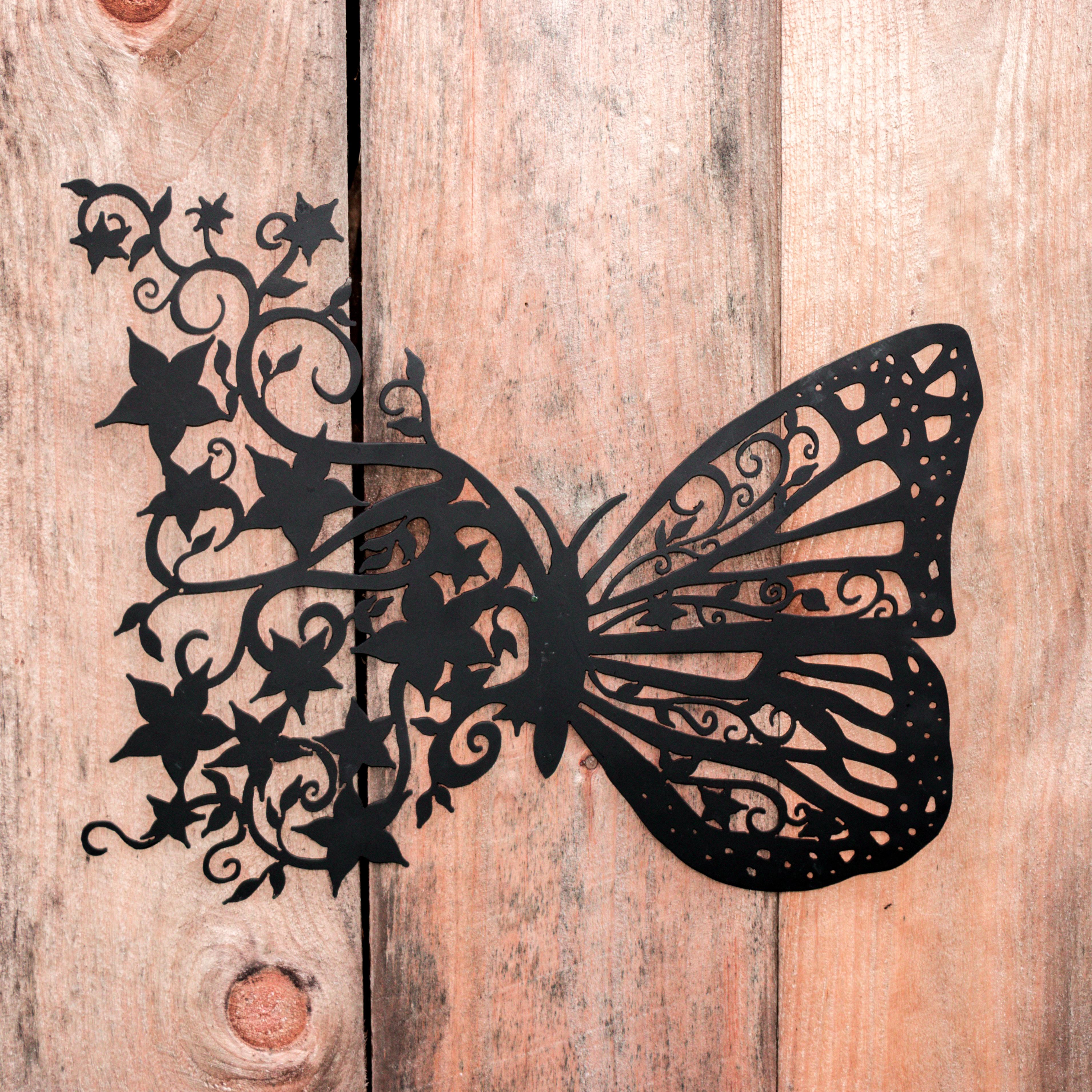 Butterfly Flights Of Fancy Custom Metal Wall Art